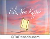 Tarjeta de Yom Kippur