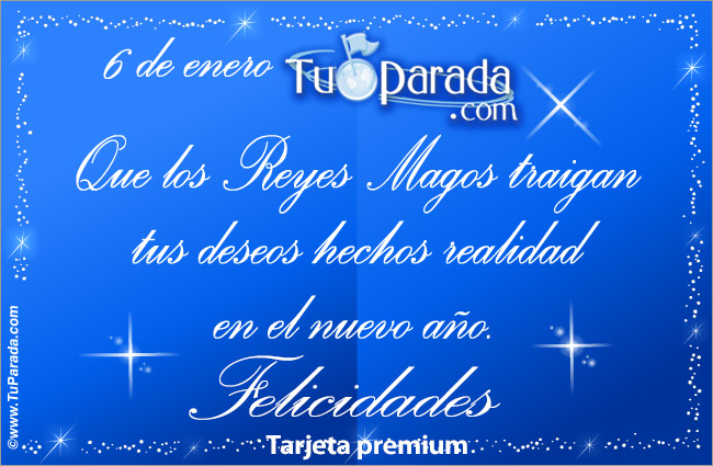 Tarjeta - Que los Reyes Magos traigan...