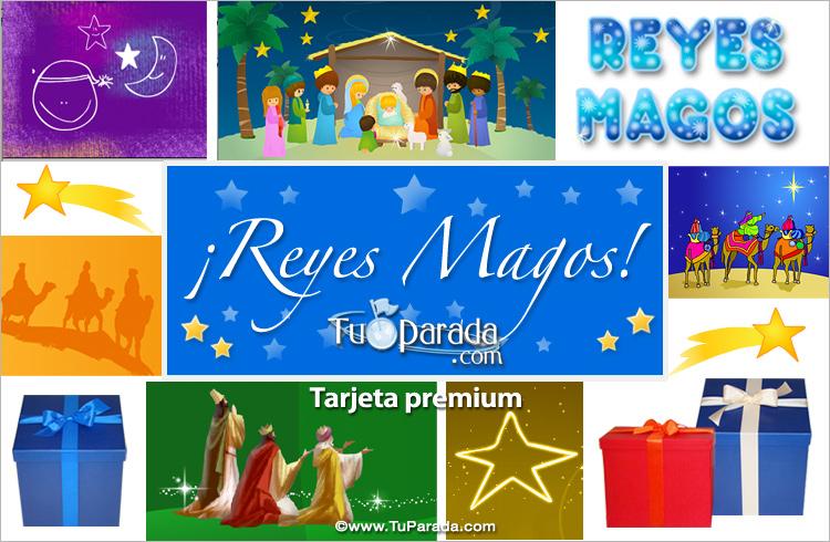 Tarjeta - Ecard para los Reyes Magos