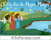 Tarjetas postales: Tarjeta de Reyes Magos