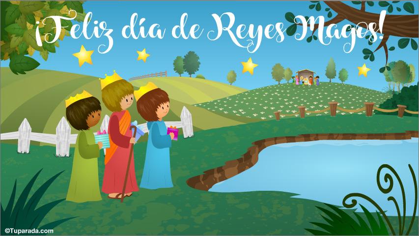 Tarjeta - Tarjeta de Reyes Magos