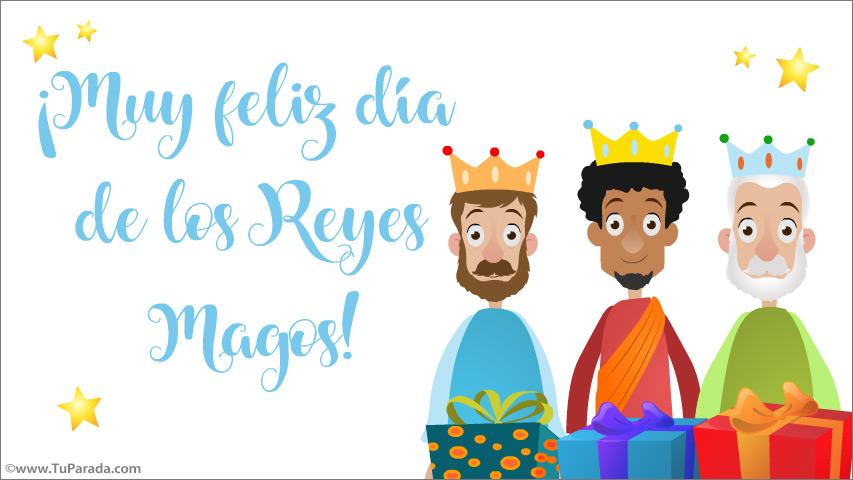 Tarjeta - Feliz día de los Reyes Magos