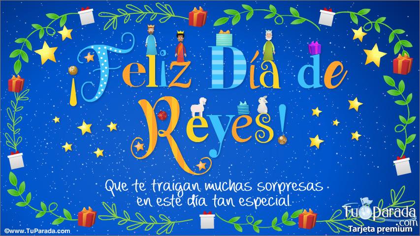 Tarjeta - Postal de Reyes Magos