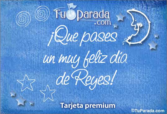 Tarjeta - Muy feliz día de Reyes
