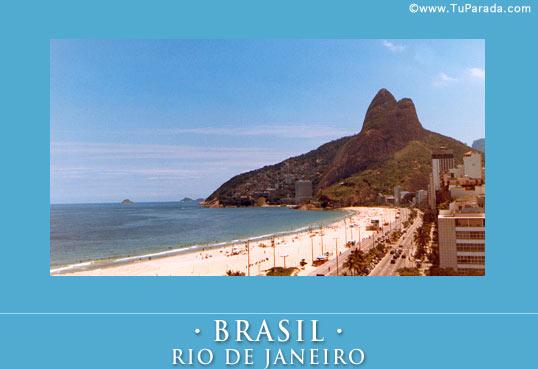 Cartão de Rio de Janeiro, Brasil