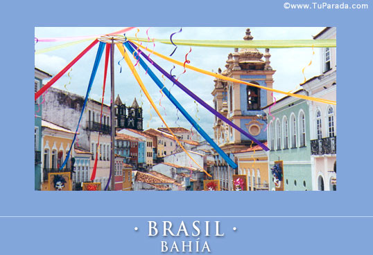 Cartão - Bahía, Brasil