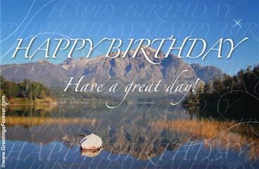 Landscape birthday ecard