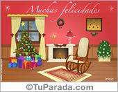 Tarjeta de Navidad tradicional
