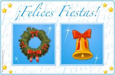 Postal de Navidad tradicional