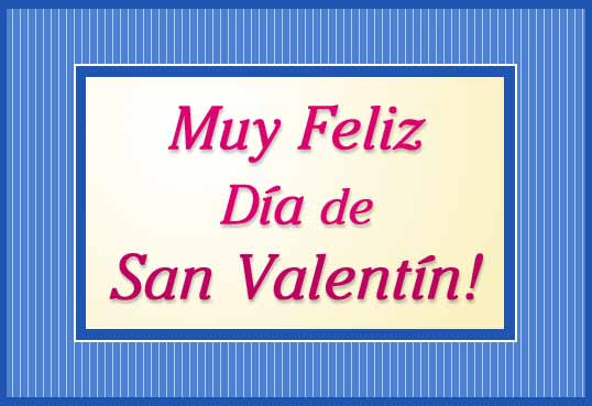 Tarjeta - San Valentín con marco.