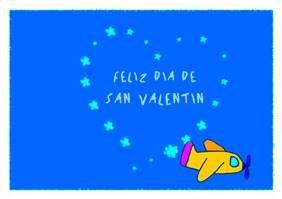 Feliz día de San Valentín con avión
