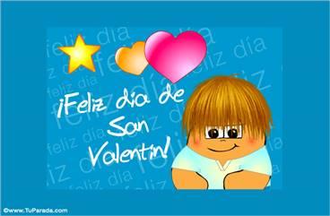 Feliz día de San Valentín turquesa