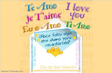 I love you en varios idiomas