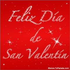 Feliz Día de San Valentín con estrellas
