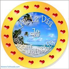 Feliz Día de San Valentín circular