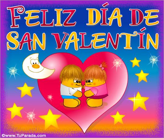 Tarjeta - Día de San Valentín con corazones