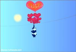 Feliz Día de San Valentín con globos