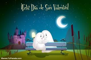 Feliz Día de San Valentín de noche