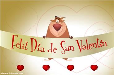 San Valentín con oso divertido