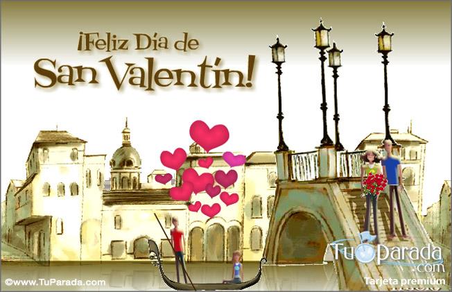 D a de san valent n en venecia san valent n tarjetas - Postales dia de san valentin ...