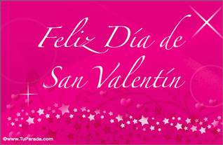 Tarjeta de San Valentín magenta