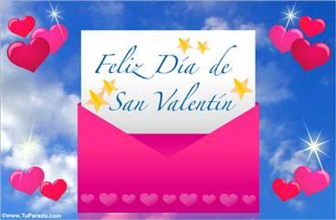 Tarjeta de sobre de San Valentín