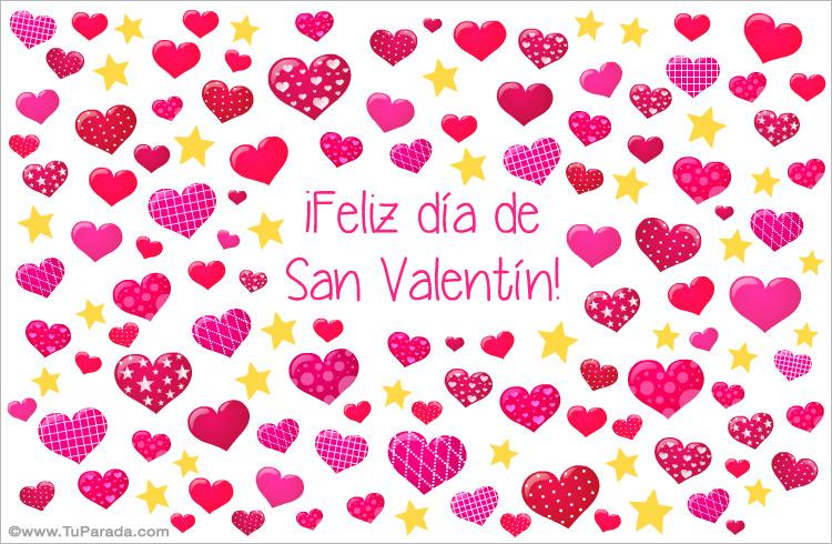 Tarjeta De San Valentín Con Corazones San Valentín Tarjetas