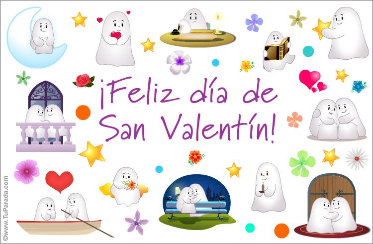 Tarjeta - Feliz día de San Valentín con fantasmín