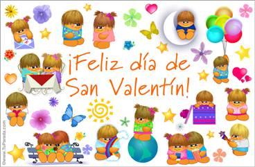 Tarjeta de San Valentín con Los Gordis
