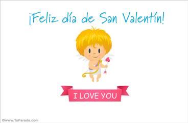 Ecard de San Valentín con Cupido