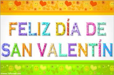 San Valentín con letras divertidas