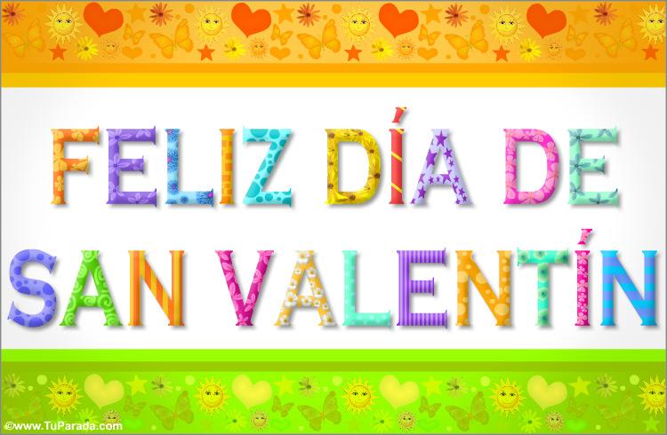 Tarjeta - San Valentín con letras divertidas
