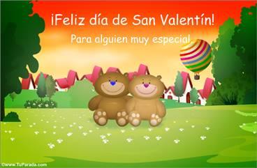 Postal de San Valentín con ositos