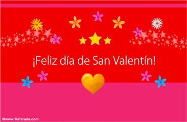 Colorida tarjeta para San Valentín