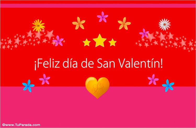 Tarjeta - Colorida tarjeta para San Valentín