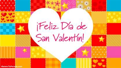 Tarjeta de San Valentín colorida