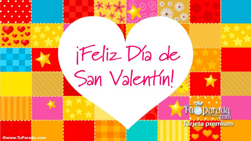 Tarjeta - Tarjeta de San Valentín colorida
