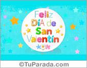 Tarjetas postales: Postal animada de San Valentín con estrellas
