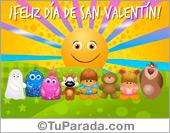 Tarjetas postales: Tarjeta de San Valentín con sol