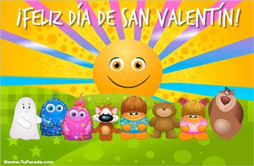 Tarjeta de San Valentín con sol