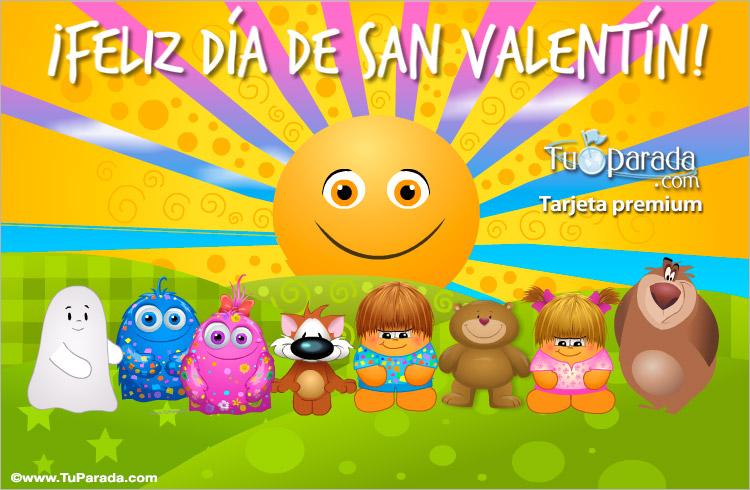 Tarjeta - Tarjeta de San Valentín con sol