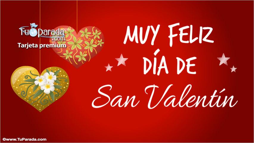 Tarjeta - Tarjeta Día de San Valentín con adornos