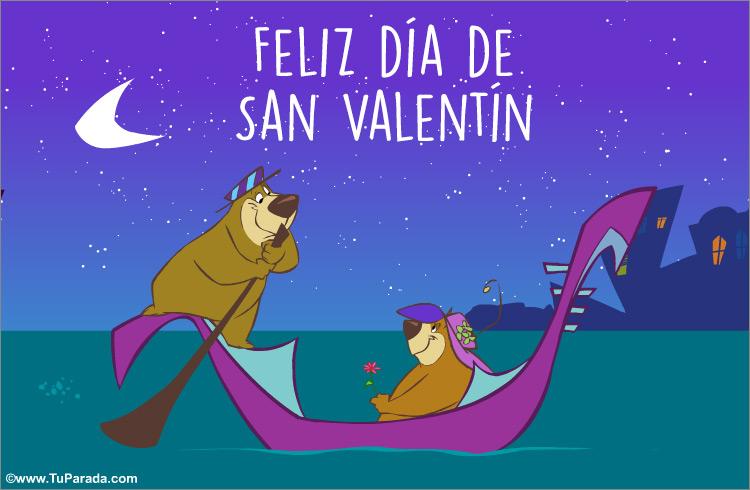 Feliz d a de san valent n en g ndola san valent n tarjetas - Postales dia de san valentin ...