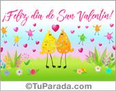 Tarjetas postales: Feliz día de San Valentín con festejo