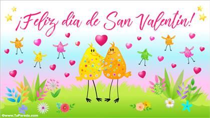 Feliz día de San Valentín con festejo