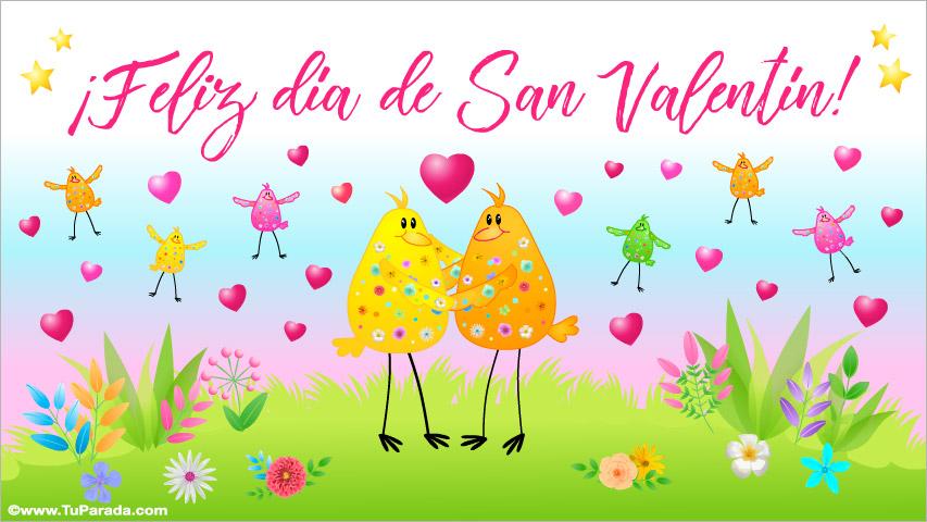 Tarjeta - Feliz día de San Valentín con festejo