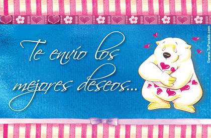 Felicidades y los mejores deseos para San Valentín