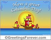 Ecards: Columbus Day