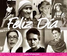 Tarjeta homenaje Día de la Mujer
