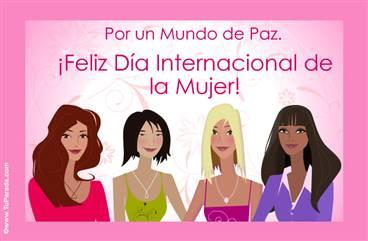 Por un mundo de Paz. Día de la Mujer.
